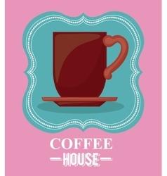 Coffee house design vector