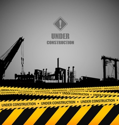 Under construction industrial template design vector