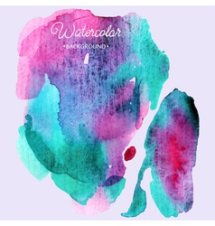 Abstract hand paint watercolor background vector image vector image