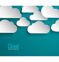 Abstract paper clouds background vector image