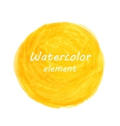 Abstract watercolor art hand paint isolated on vector image