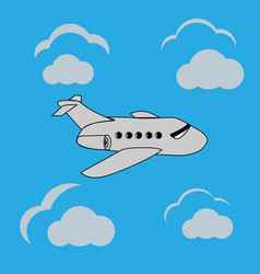 Airplane ilustration vector