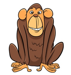 Ape animal character vector