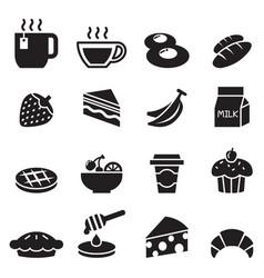 Breakfast icon set 2 vector