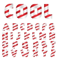 Candy letter set vector image vector image
