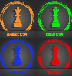 Chess Queen icon Fashionable modern style In the vector image