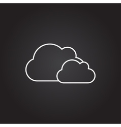 clouds icon vector image vector image