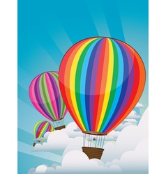 Colorful hot air balloons5 vector