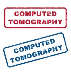 Computed tomography rubber stamps vector