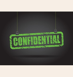 confidential green vector image