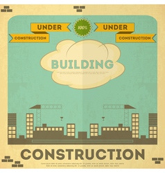 construction placard vector image