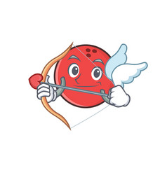 Cupid bowling ball character cartoon vector