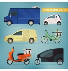 Delivery vehicles vector