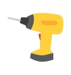 Drill hand tool flat vector