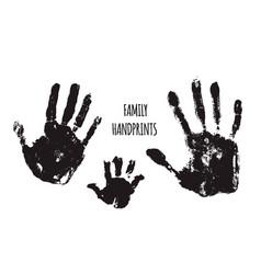 Family handprints vector