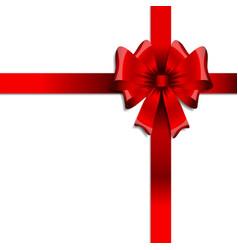 Glossy red ribbon vector