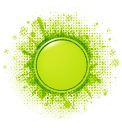Green Blobs With Speech Bubble vector image