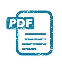 Grunge pdf file icon vector