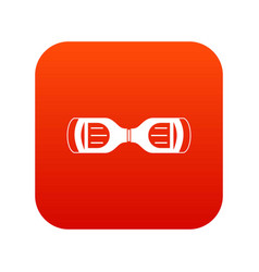 Hoverboard gyro pod top view icon digital red vector