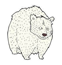 Huge polar bear comic cartoon vector