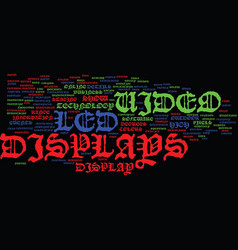 Led video displays text background word cloud vector