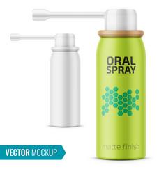 matte oral spray bottle template vector image vector image