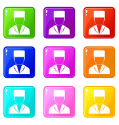 Medical doctor icons 9 set vector