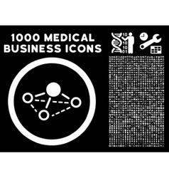 Molecule rounded icon with medical bonus vector