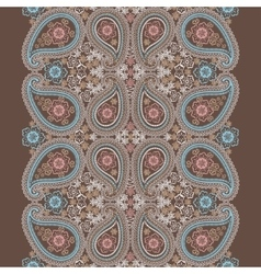 Paisley lace seamless bordercute oriental vector