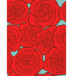 Roses seamless floral background vector