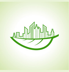 Save nature and ecology concept with eco vector