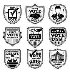 Set of vote labels for presidential vector