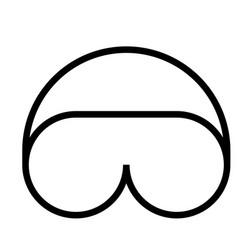 sleeping mask icon vector image