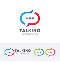 talking logo vector image