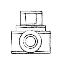 Vintage photographic camera vector