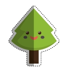 xmas pine tree vector image vector image