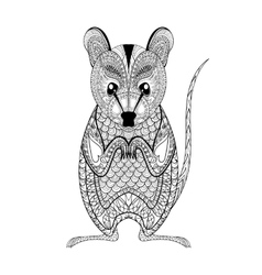 Zentangle possum totem for adult anti stress vector