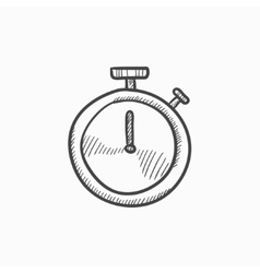 Stopwatch sketch icon vector