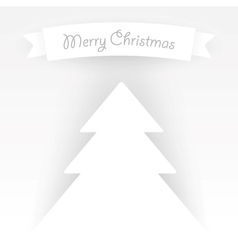 Paper christmas tree applique vector