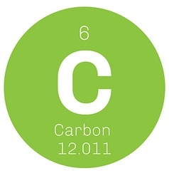 Carbon chemical element vector
