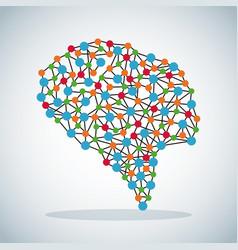 Human brain science image vector
