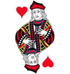 Jack of hearts isolated french version vector