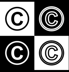 Copyright sign   black and vector
