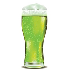Green beer glass2 vector