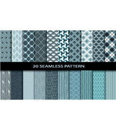 20 Seamless Patterns vector image