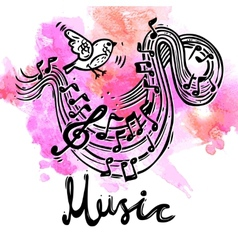Music Sketch Background vector image