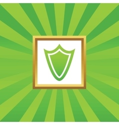 Shield picture icon vector