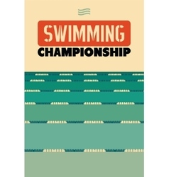 Typographical vintage style poster for Swimming vector image