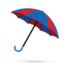 Blue and red umbrella vector