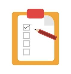 Clipboard with pencil icon vector